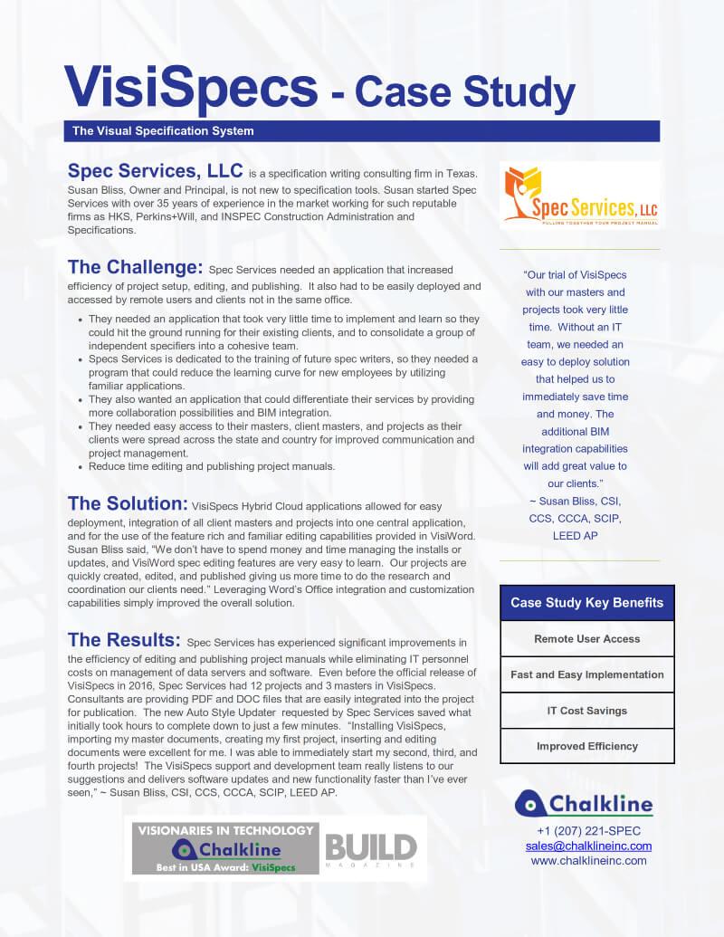 VisiSpecs Case Study SS LLC